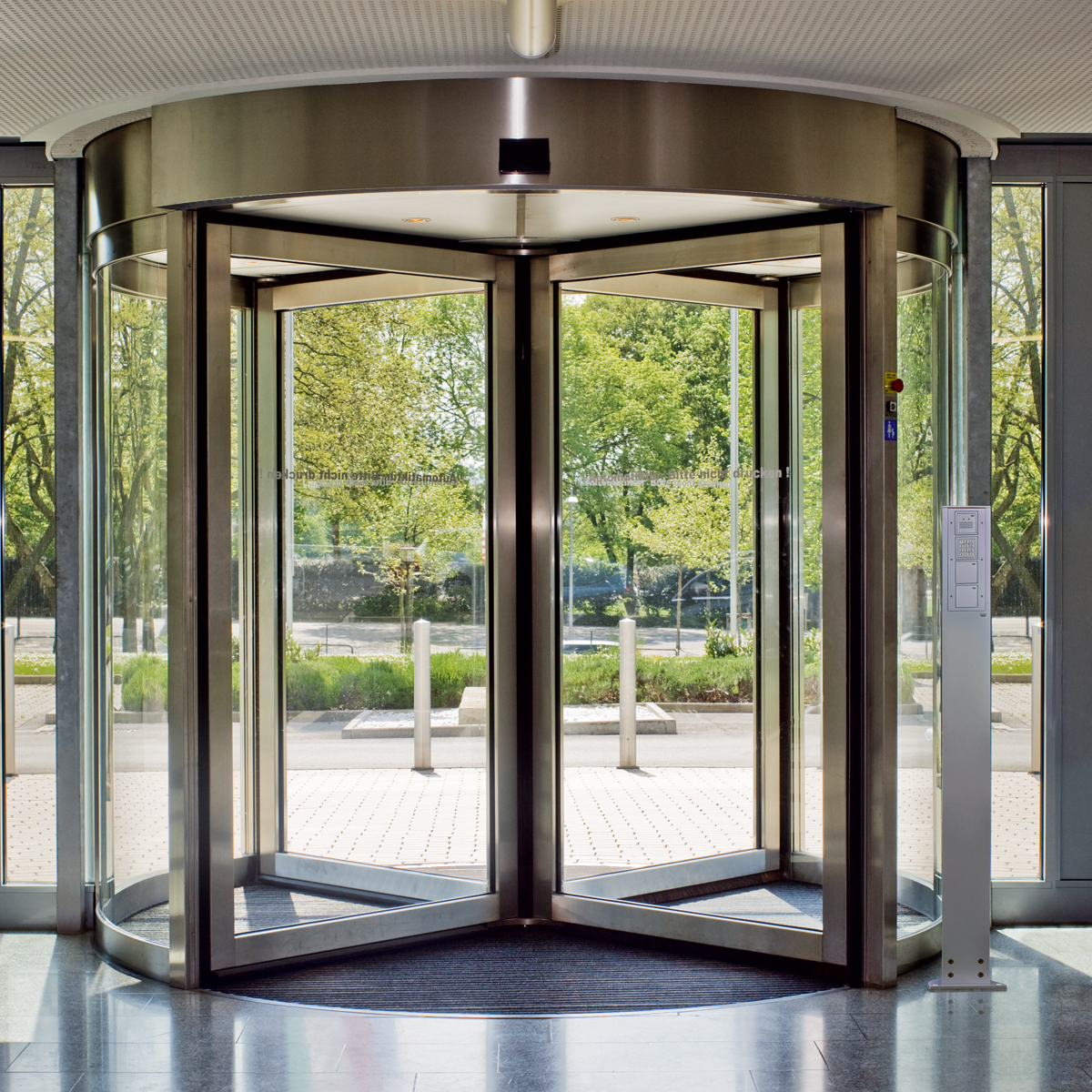 Automatic revolving doors in qatar
